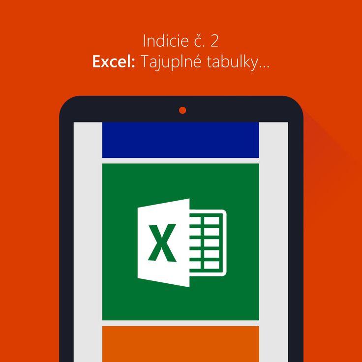 Indicie č. 2 Excel: Tajuplné tabulky...  Odhalili jste první indicii? Co vám vyšlo? Bylo to těžké? Tolik otázek... a rovnou vám přidáme další! Druhou indicii najdete opět  na Facebooku MicrosoftCZ Připomínáme, že potřebujete odhalit celkem 7 indicií a složit je dohromady, abyste mohli získat skvělý tablet.