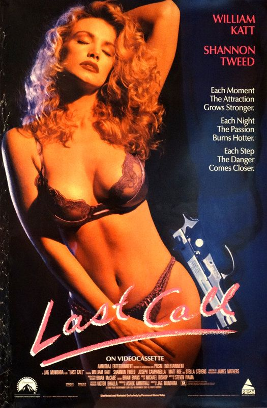 "LAST CALL. Original 1991 U. S. 26""x39.5"" Video Rental Store Movie Poster. William Katt, Shannon Tweed, Joseph Campanella, Matt Roe. by ArtisticSoulStudio on Etsy"