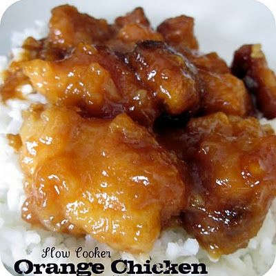 Slow Cooker Orange Chicken - I just made this recipe for dinner today and I have got to say that it is fantastic!! My husband loved it too! I did add some water chestnuts and red bell pepper slices to it for a nice look, but other than that I made it exact to the recipe.