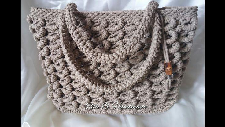 Borsa SABBIA Tutorial Passo passo - Crochet