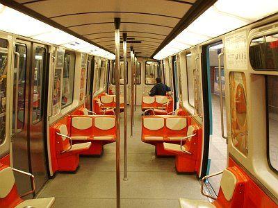 Interior of an old Montreal metro/underground subway.