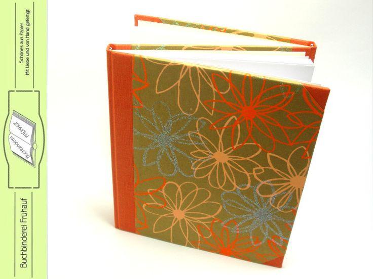 Quadratisch - Zwillingsbuch Tagebuch - ein Designerstück von BuchbindereiFruehauf bei DaWanda