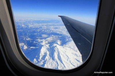 Great view of Mount Rainier! #Allegiant #flight Photo courtesy of David Parker Brown of Airline Reporter.