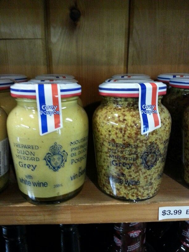 Product: Dijon mustard.  Store: Harvest Barn (Fourth Avenue, St. Catharines).  Dijon mustard is a low FODMAP option, but check the ingredients as some mustard products may contain added FODMAPs (e.g. garlic powder).  Neal Glauser, RD