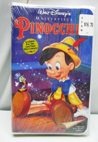 PINOCCHIO Walt Disney Video VHS, 1993 Clamshell NEW ...