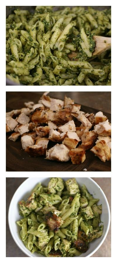 Grilled Chicken Spinach Pesto Pasta | 5DollarDinners.com 2 out of 4 liked it, but the two that liked it really liked it.