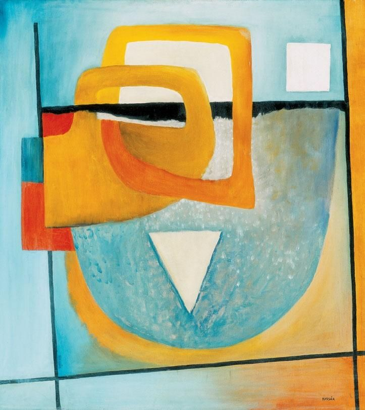Kassák Lajos (1887-1967) - Composition (Hugging) - Constructivism - Abstract - Oil on canvas. » http://www.terminartors.com/artistprofile/Kassak_Lajos