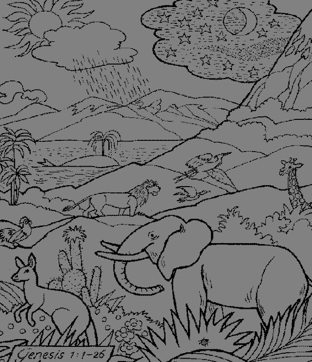 creation alphabet coloring pages - photo#45