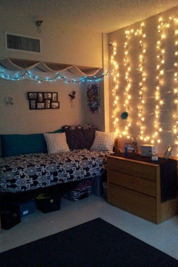 College Dorm Room Lighting Ideas In 2020 Dorm Room Lights College Room College Dorm Rooms
