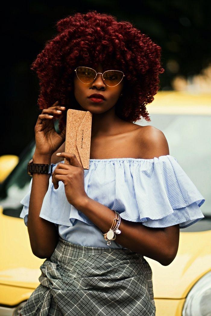 coupe cheveux frisés couleur auburn, quelle coloration pour des cheveux afro naturels cheveux ...