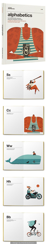 Alphabetics: An Aesthetically Awesome Alliterated Alphabet Anthology. Illustrated by Dawid Ryski, - created via