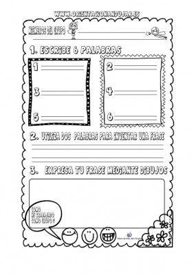 Organizador gráfico para trabajar palabras y frases en cooperativo - Orientacion Andujar