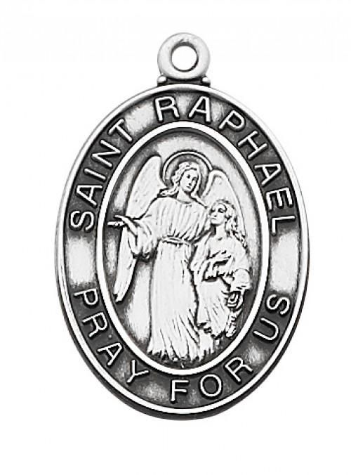 STERLING SILVER ST RAPHAEL MEDAL - L684RH