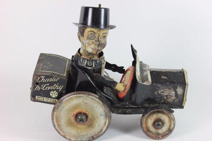 VINTAGE MARX TIN WIND UP CHARLIE MCCARTHY CAR LITHO ORIGINAL TOY 4 RESTORATION #Marx