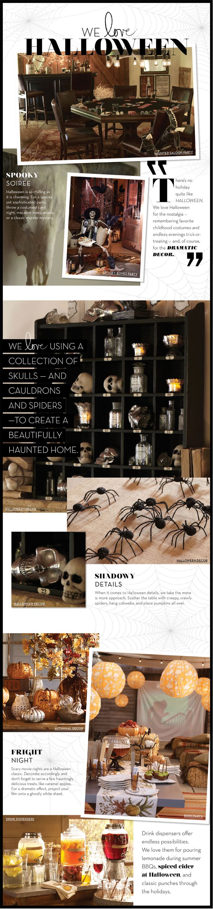 So cool! Pottery Barn's Halloween collection! #halloween
