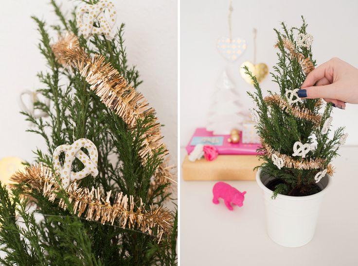 How to Make Easy Anthro-Inspired Pretzel Ornaments via Brit + Co