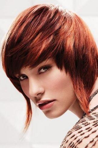Paul Mitchelle red on medium hair cut