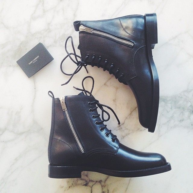 Having a boot moment. These arrived yesterday and I'm in serious love. Saint Laurent Ranger Zipper. Is it odd to wear combat boots during the last days of sandal weather? #saintlaurentranger #Padgram