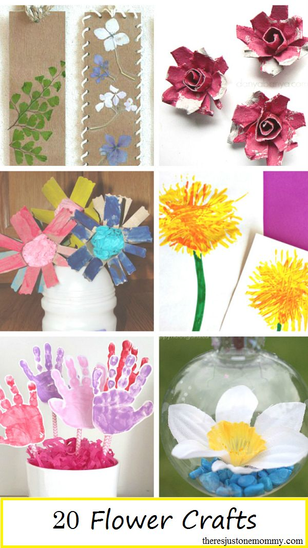 20 Flower Crafts For Kids Mothers Day Spring