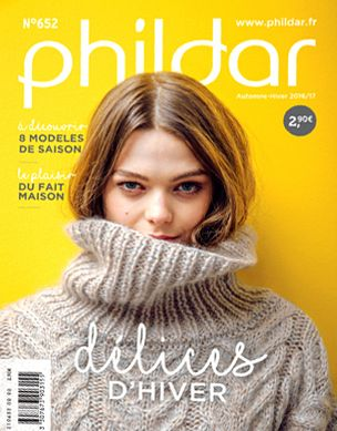 Mode hivernale avec votre catalogue créatif PHILDAR Automne Hiver 2016 / 2017
