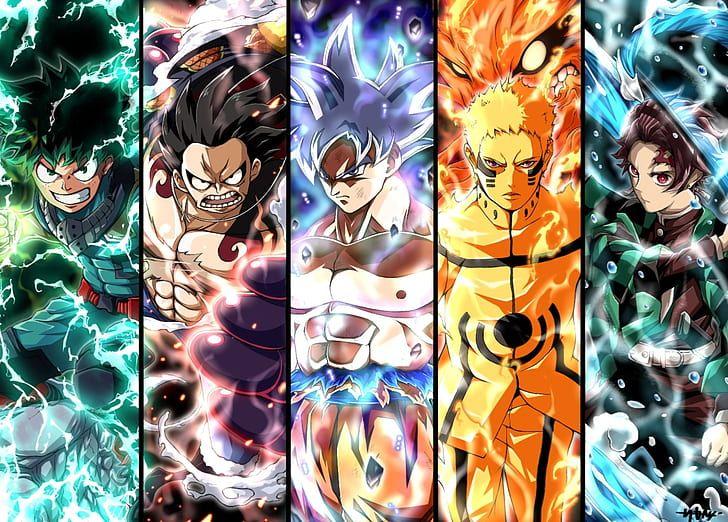 Hd Wallpaper Anime Crossover Demon Slayer Kimetsu No Yaiba Dragon Ball Wallpaper Flare Anime Crossover Cool Anime Wallpapers Anime Background anime crossover wallpaper