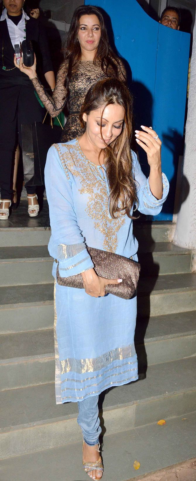 Gauri Khan with Kehkashan Patel at Olive. #Bollywood #Fashion #Style #Beauty