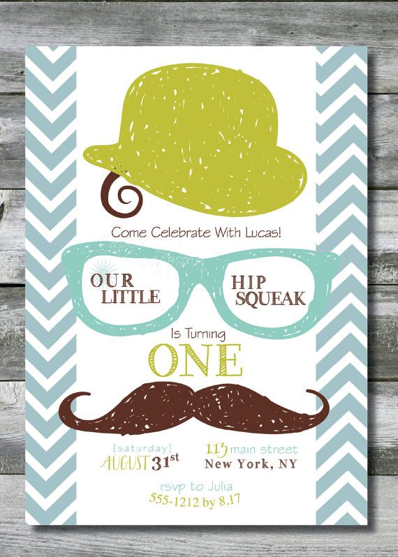 LITTLE HIP SQUEAK Little Man Hipster Birthday by PaperHeartCompany, $16.00