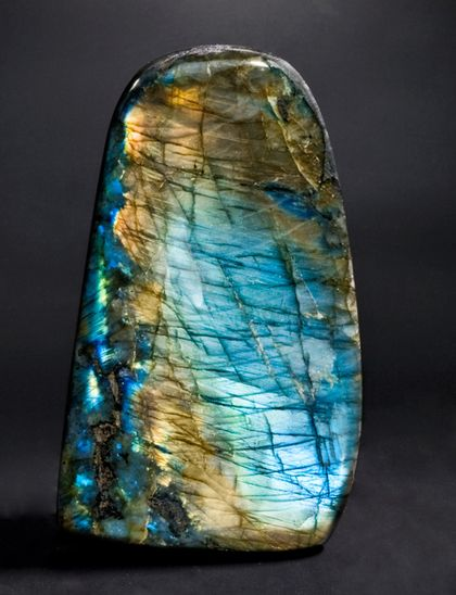 Labradorite is the most powerful protector of the mineral kingdom, creating a shielding force throughout the aura and strengthening natural energies from within. It protects against the negativity and misfortunes of this world, and provides safe exploration into alternate levels of consciousness and in facilitating visionary experiences from the past or the future.