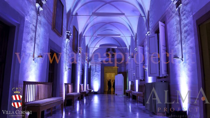 ALMA PROJECT @ Villa Corsini - androne - white uplights