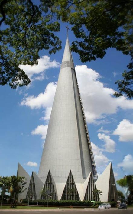 Cathedral of Maringá (Catedral Basílica Menor Nossa Senhora da Glória), Paraná, Brazil