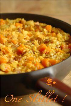 Poêlée riz, potimarron, fenouil, châtagne, épices, lait de coco_1