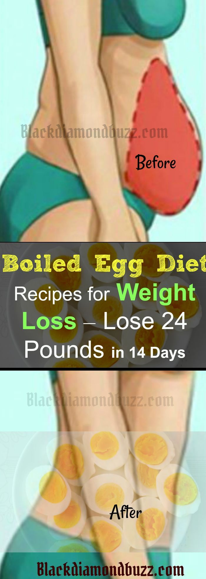 Boiled Egg Diet Recipes for Weight Loss – Lose 24 Pounds in 14 Days- Namely, few eggs, vegetables and citric fruits have the ability to make wonders. This combination will speed up your metabolism and thus will burn the fat. Well, the best part is that you will not feel hunger.