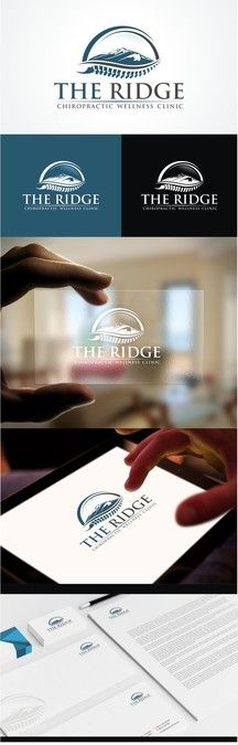 Create a mountain themed logo for The Ridge Chiropractic Wellness Clinic by Design Injector