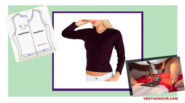 Blusa básica para mujer | Patrones y moldes gratis