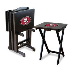 San Francisco 49ers NFL TV Tray Set with Rack