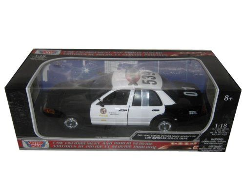 2001 Ford Crown Victoria Los Angeles Police Department LAPD Car 1/18 by Motormax 73539