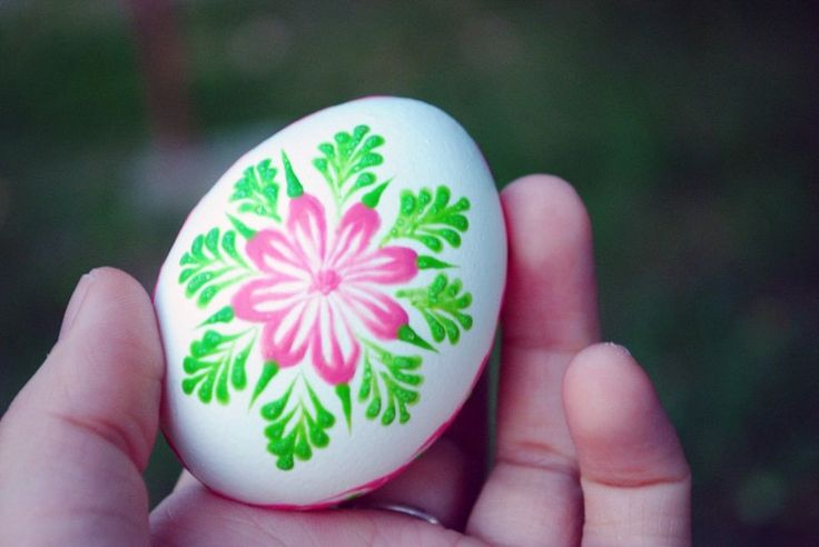Slovak Hand Painted Easter Eggs · How To Make A Decorative Egg ...