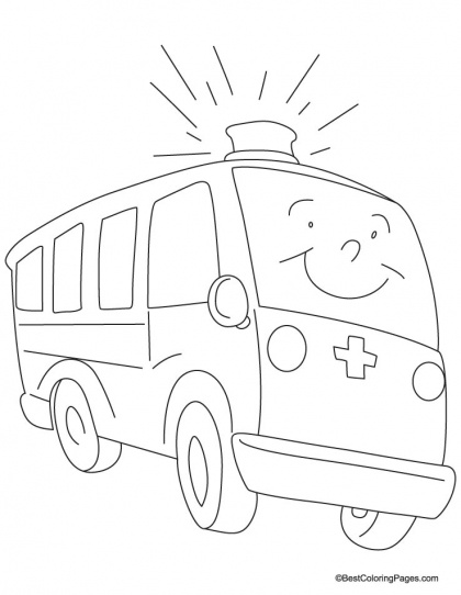 a fast moving ambulance coloring page download free a fast moving ambulance coloring page for - Ambulance Coloring Pages Printable