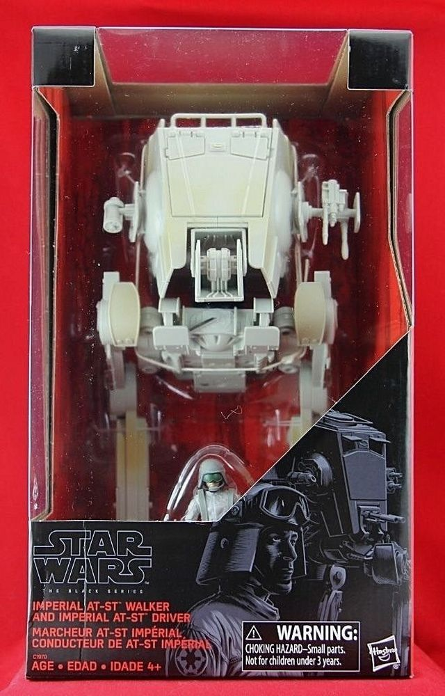"Exclusive Imperial AT-ST Walker & Driver 3.75"" Figure Star Wars Black Series Toy #Hasbro"