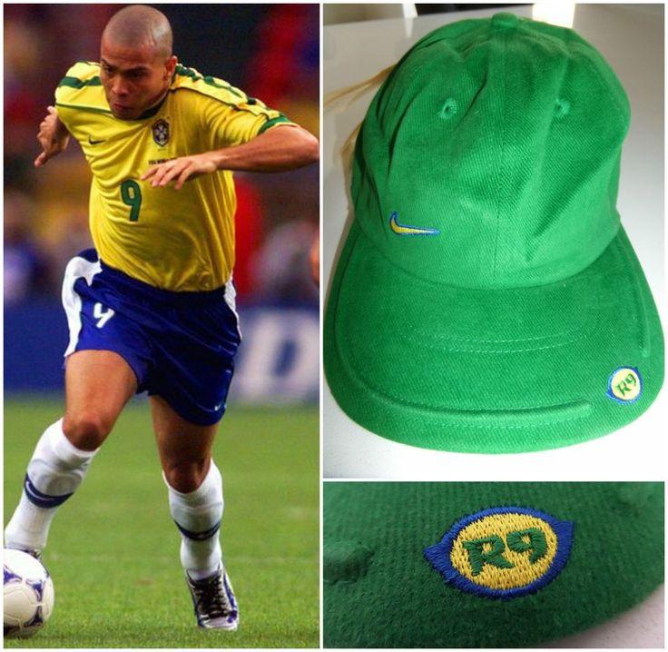 VTG 90's NIKE RONALDO R9 MERCURIAL CAP HAT BRASIL BRAZIL FOOTBALL SOCCER RARE  #Nike #CapHat