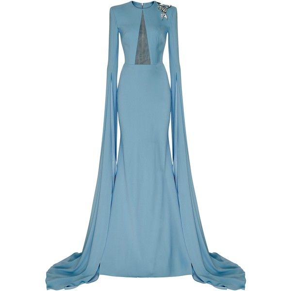 [PRE-PURCHASE] JULIETTE gown by ALEX PERRY #D298C [Expected Delivery... ($1,560) ❤ liked on Polyvore featuring dresses, gowns, alex perry, long sleeve ball gowns, long sleeve gowns, cut out gown, long sleeve evening gowns and cut out dresses