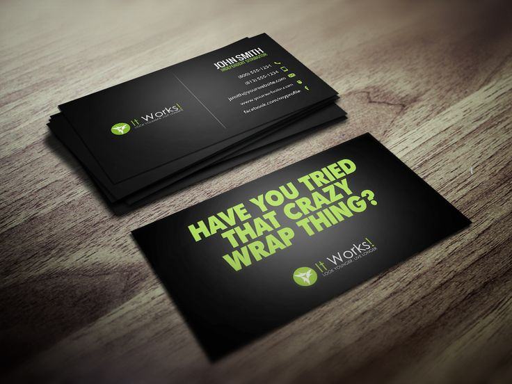 7 Best It Works Business Cards Images On Pinterest Business Card