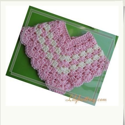 picot baby poncho - like the look