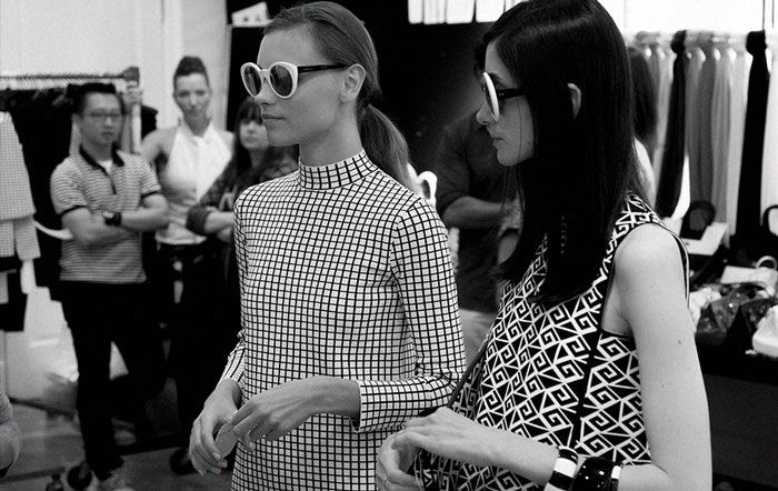A nod to mod: Backstage at the Ralph Lauren Collection Spring 2014 Runway show