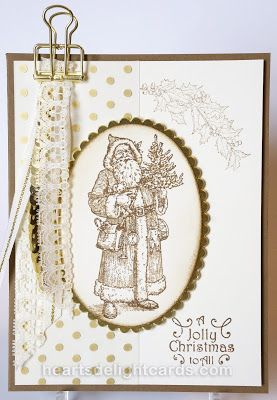 Heart's Delight Cards: Father Christmas in Sepia using Special Offers