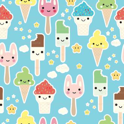 ice cream fabric #Kawaii #Draw #Illustration