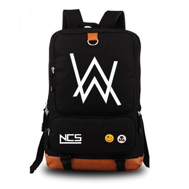DJ Alan Walker NOCTILUCENT Backpack Unisex Fashion Backpack Laptop Backpack Black school bag Daily backpack