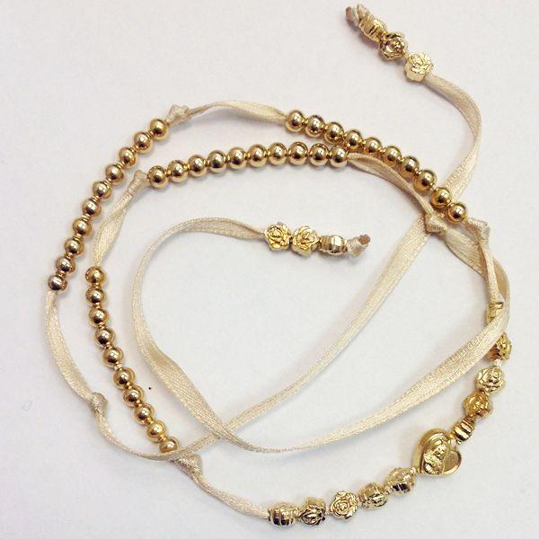 Bracciale #rosario 5 decine con cuore e rose #rosary #heart