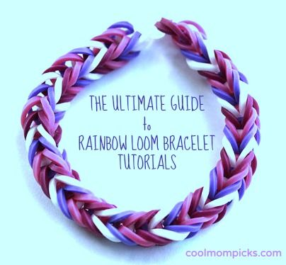 The ultimate guide to making the coolest Rainbow Loom bracelet patterns: This should help a lot of your kids make some handmade gifts this holiday!