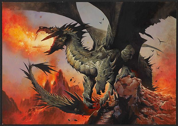 From Magic: The Gathering.  I miss the game and its evolved so much.  Here are dragons now.    http://www.wizards.com/magic/magazine/article.aspx?x=mtg/daily/arcana/556